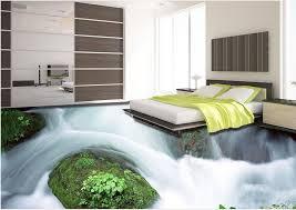 Vinyl Flooring Waterproof Custom 3d Photo Wallpaper Mountain Stream Bedroom Floor Tiles In Wallpapers From Home Improvement On