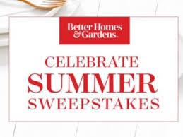 Homes & Garden Celebrate Summer Sweepstakes