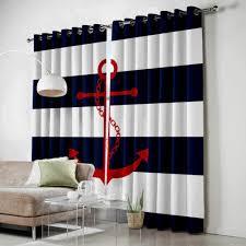 bszhct kinder gardinen schlafzimmer vorhang blau weiß