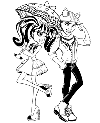 Monster High Colouring Pages 26 Home