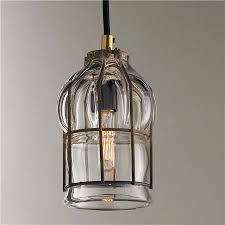 blown glass cage pendant l home lighting l www