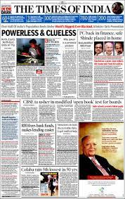 Portada De The Times Of India