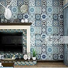 wallpapers blue faux tin decken fliesen 3d wand tuch rollen