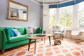 Grey Walls Make The Green Velvet Sofa Look More Vibrant Photo Susie Lowe