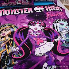 twin size children 3d bedding sets cartoon monster high good