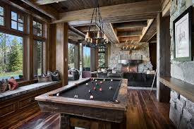 Pool Table Room Ideas Family Rustic With Wood Earth Tones