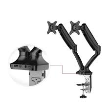 Desk Mount Monitor Arm Dual by Fleximounts 2 In 1 Dual Monitor Arm Desk Mount Laptop Stand Fits