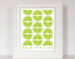 Lime Green Kitchen Art Quote Citrus Print