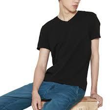 xiaomi men u0027s short sleeve v neck t shirt slim fit knitting fabric