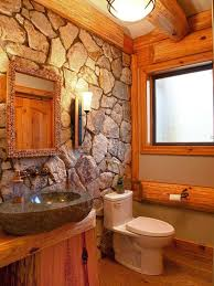 Rustic Bathroom Decor Ideas Cabin Style Decorating Designs Log