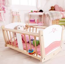 Hape Kitchen Set Malaysia by Hape Rock A Bye Wooden Baby Cradle Toy At Mighty Ape Nz