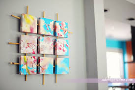 View In Gallery Gorgeous Sectioned Canvas Wall Art DIY
