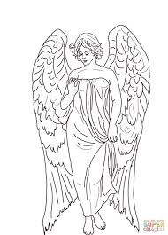 Guardian Angel Coloring Page Printable Pages Click The Adult Angels Free
