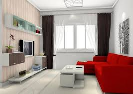 Black And Red Living Room Decorating Ideas by Awesome Small Living Room Design With Red Accent Sectional Sofa