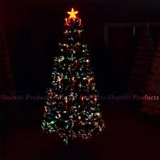 2ft LED Fibre Optic Christmas Tree Pre Lit Xmas Decoration With Candle Bow