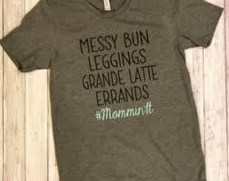 Mommin It Mom Life Messy Bun Yoga Pants Target T