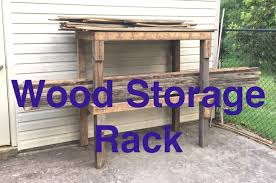 how to make a simple wood storage rack or garage shelves youtube