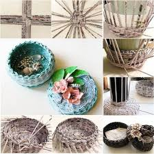 Woven Paper Craft Is A Nice Way To Recycle Old Newspaper And Magazines Sometimes It