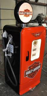 Super Cool Kegerator Gas Pump Style Vintage Refrigerator For That Man Cave Room Find This Pin And More On Harley Davidson Home Decor