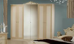 details zu kleiderschrank schlafzimmerschrank beige hochglanz spiegel italienisch klassisch