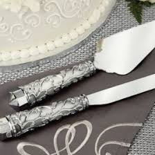 Engraved Cake Servers Wedding Server Sets