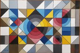 Harlem Hospital Mural Pavilion Address by Alfredo De Giorgio Crimi Eye And The Shutter Geometric Abstract