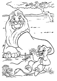 Coloring Page For Lion King Disney Pages Printable Panda