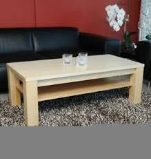 details zu wohnzimmertisch ahorn 90x60cm massiv echtholz mit ohne ablage auch wunschmaß