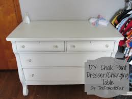 DIY Chalk Paint Dresser Changing Table The Domestic Four