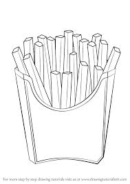 Learn How to Draw French Fries Snacks Step by Step Drawing Tutorials