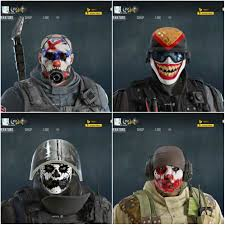 Payday 2 Halloween Masks Disappear by New Headgear Sledge Castle Rook And Glaz 27 000 Renown Each
