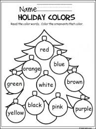 Free Christmas Coloring Activity To Help Pre K And Kindergarten Students Learn The Colors Great Way Practice Skills