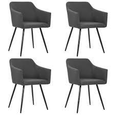 vidaxl esszimmerstühle 4 stk dunkelgrau stoff gitoparts