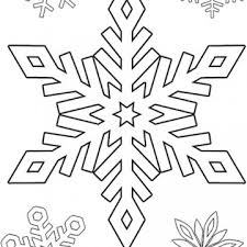 Printable Snowflake Stencils Designs To Color