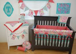 Aqua And Coral Crib Bedding by 180 Best Coral And Aqua In The Nursery Images On Pinterest Aqua