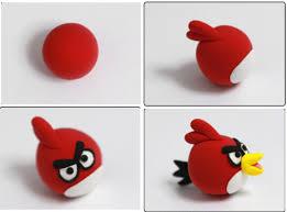 tutoriel comment faire les personnages de angry bird en fimo