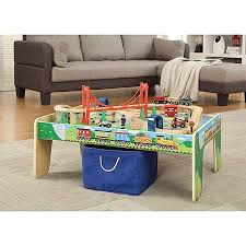 wooden 50 piece train set with small table only at walmart