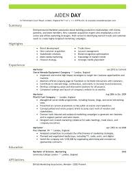 Good Marketing Resume Examples Creative Templates Template Best
