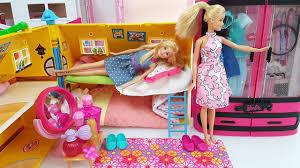 barbie bedroom morning routine دمية باربي غرفة نوم barbie doll