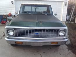 100 1971 Chevy Truck Pickup C10 Custom Short Box All Original Used