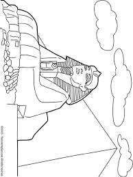 Great Sphinx Coloring Page Site Has Other Printables For Places Around The World
