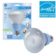 ge 15 watt 65w br30 compact fluorescent flood light bulb e