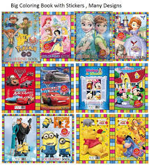 Big Colouring Bok Book With Stickers Birthday Party Goodies Bag