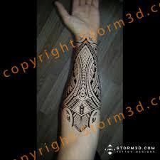 Samoan Forearm Tattoo Designs