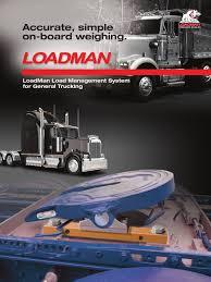 100 General Trucking LoadMan OnBoard Scales Brochure Truck Truck Driver
