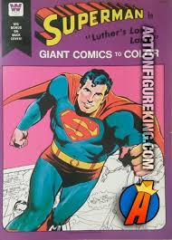 1975 Superman Luthors Lost Land Giant Comics To Color Whitman Coloring Book