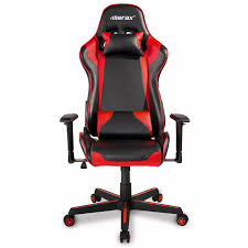 Merax Ergonomic Office Chair Gaming Chair Racing Style High Back PU Leather  Folding Chair Swivel Chair With Headrest And Lumbar Support