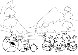 New Angry Birds Coloring Pages