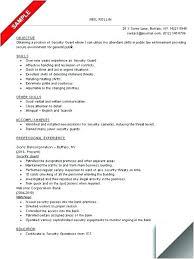 Information Technology Security Resume Examples Sample Of Guard Example Imposing Ideas Resu