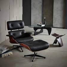 moderne mid century leder design sessel wohnzimmer möbel